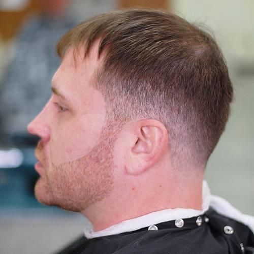 men's tapered haircut for receding hairline