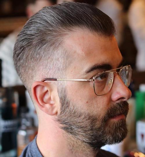 Taper With Beard For Receding Hairline