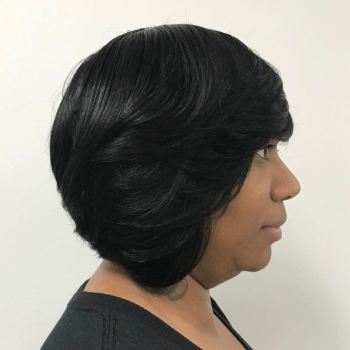 Black Layered Bob Weave