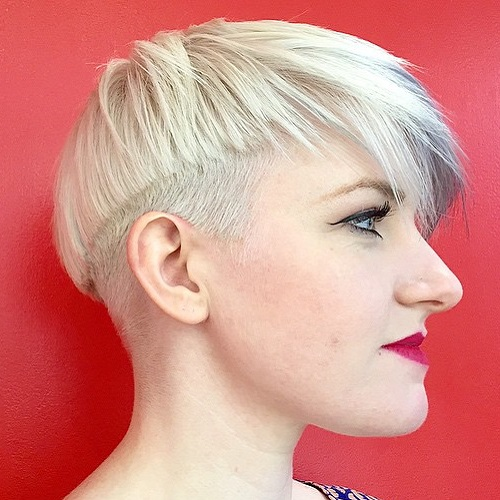 Asymmetrical Blonde Bowl Cut