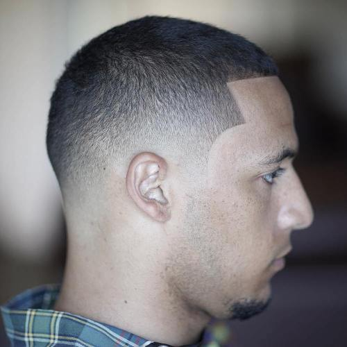 Short Skin Fade With Lineup