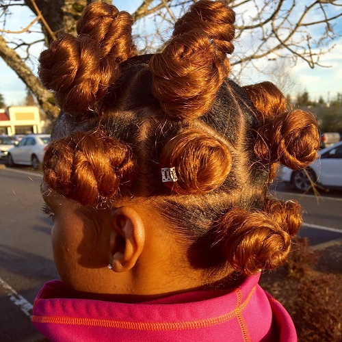 Big Red Bantu Knots