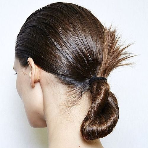 Sleek Low Twisted Ponytail