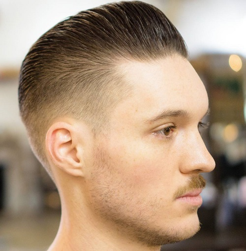 Attractive Neat Slicked Back Taper Fade