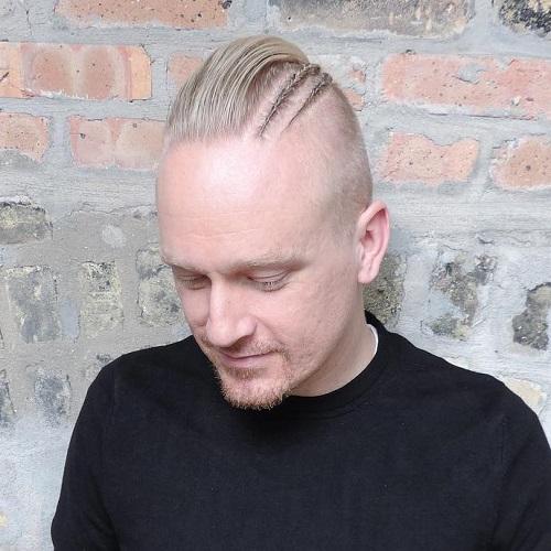 20 trendy slicked back hair styles asymmetrical slicked back hair with braids urmus Choice Image
