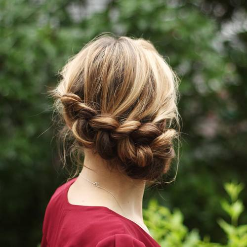 Messy Low Braided Updo