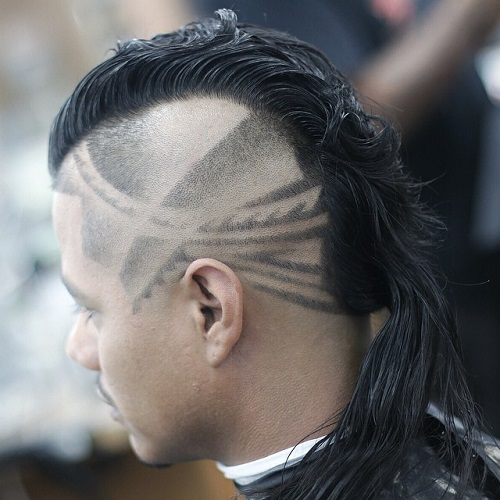 Mohawk With Shaved Patterns