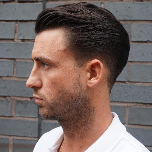 Superb Wavy Slicked Back Taper