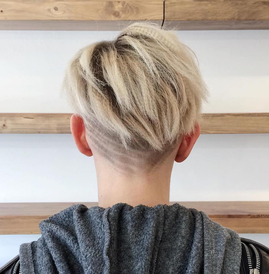 Short Hairstyle With Nape Undercut