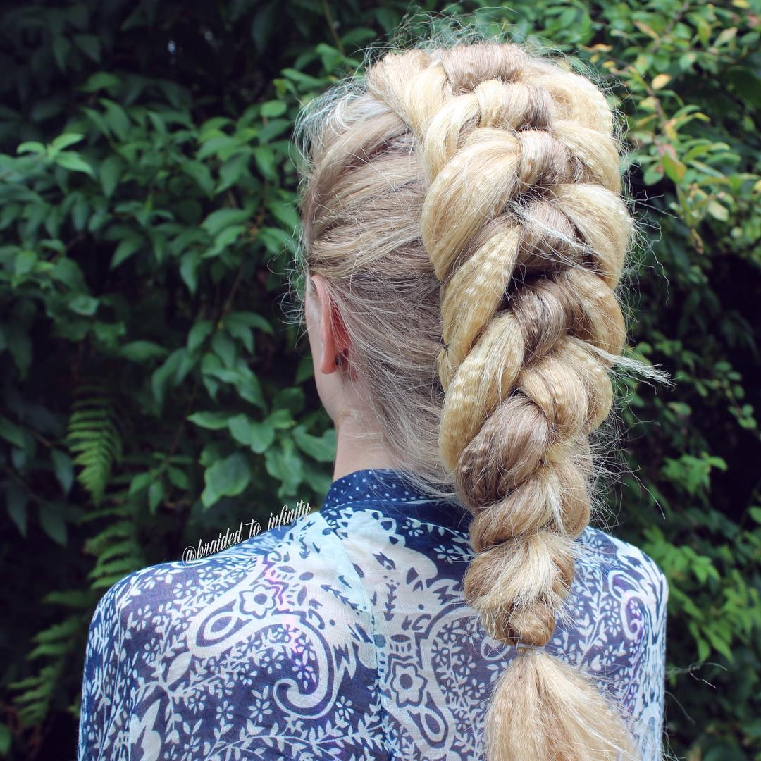 Ribbon Braid For Crimped Hair