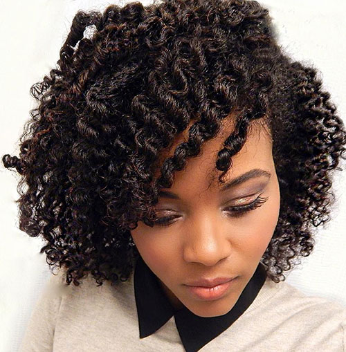 Shorter Twist Out Hairstyle