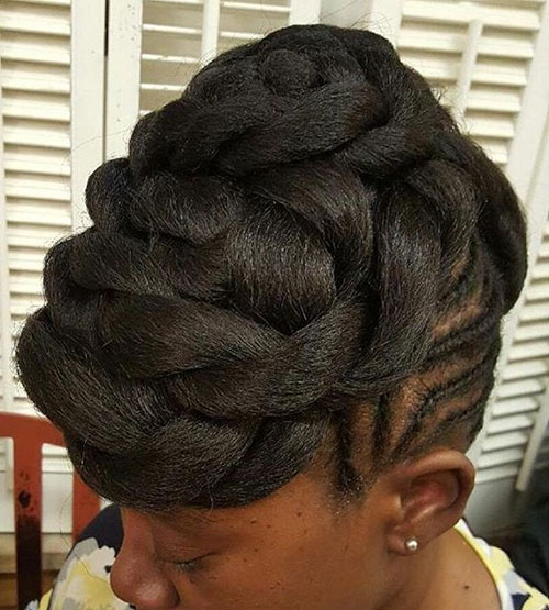 Twisted Updo With Extensions