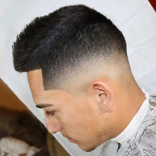 Ivy League haircut with fade