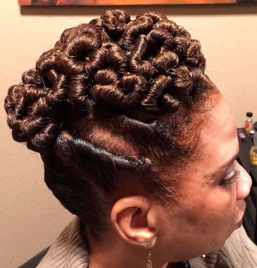 Tight Twists Updo For Natural Hair