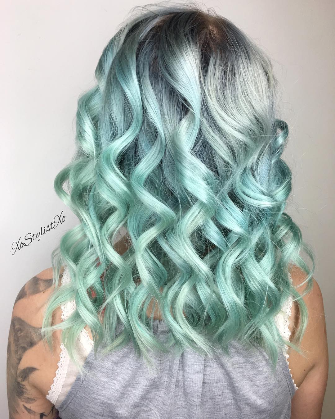 Pastel Green Ombre Hair