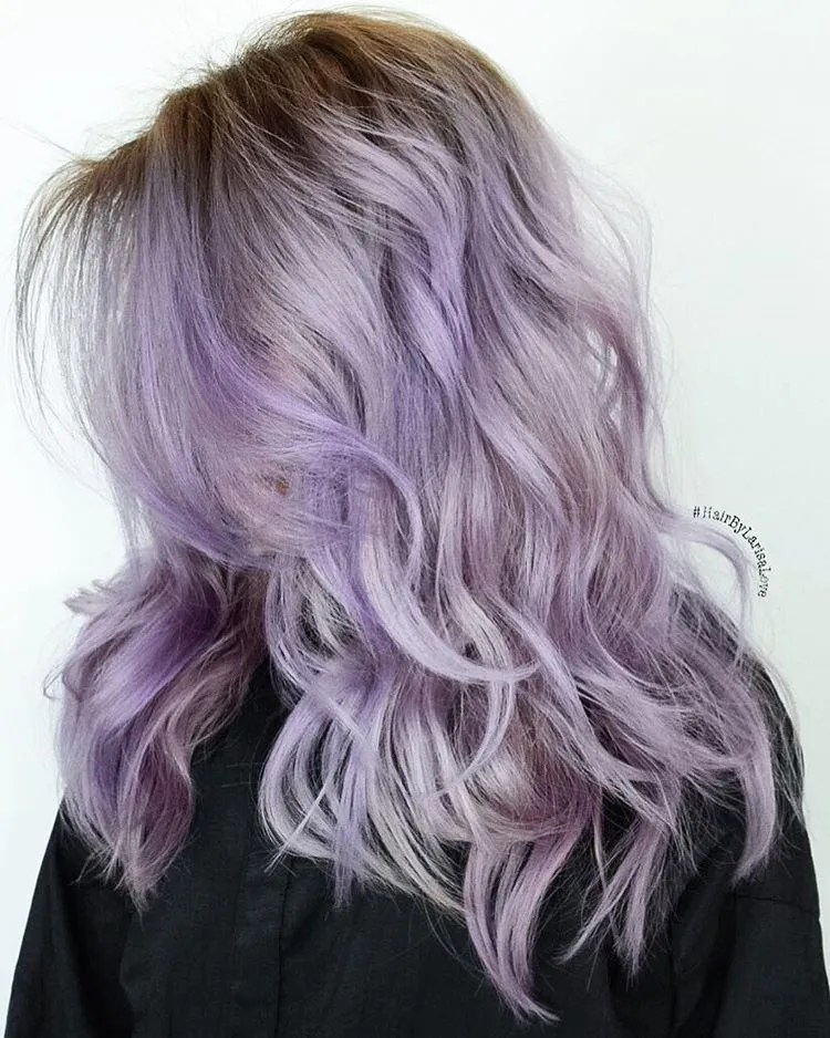 Long Layered Lilac Hair