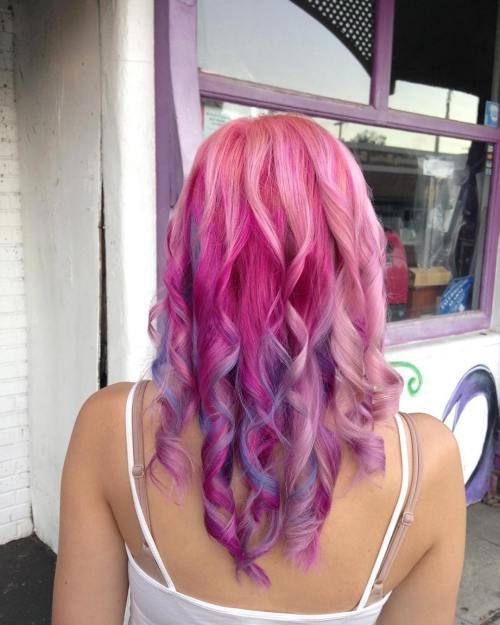 Two Toned Colored Hair: 20 Unboring Styles With Magenta Hair Color