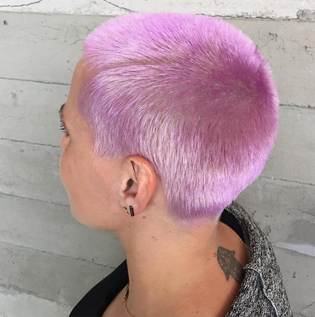 Extra Short Pastel Pink Hairstyle