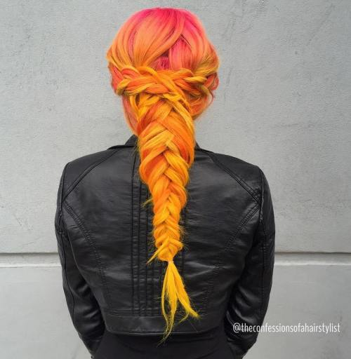 Pink To Yellow Ombre