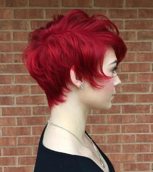 bright red hair styles 20 cool styles with bright hair color updated for 2019 3539 | 12 long red pixie hairstyle