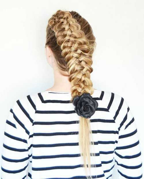 Chunky Blonde Strand Braid