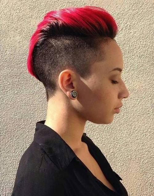 Women's Short Red Mohawk