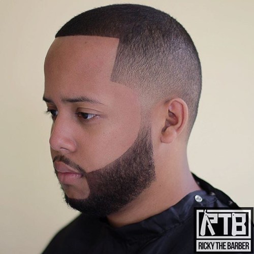 Line Up Fade With Facial Hairstyle