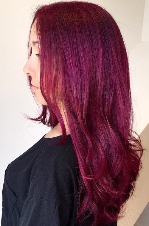 long hair dye styles 20 unboring styles with magenta hair color 7799 | 20 long magenta hair