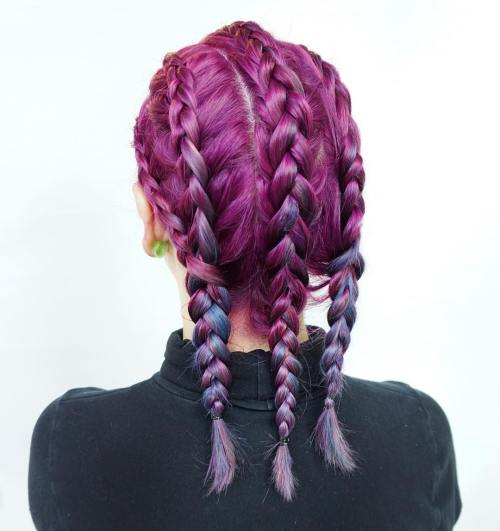 Braided Hairstyle For Lilac Hair