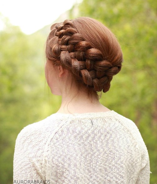 Strand Braid Crown For Crimped Hair