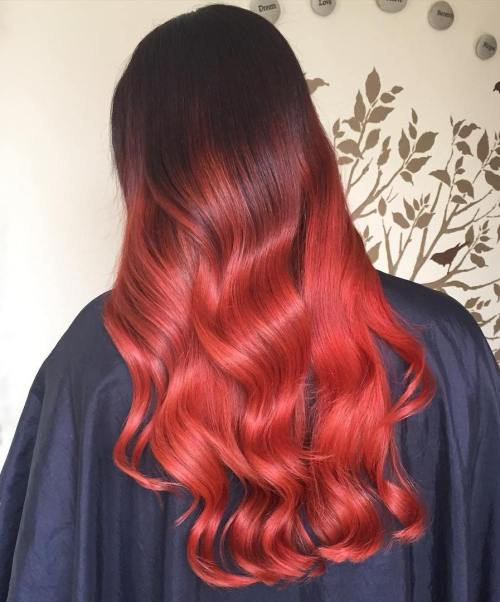 Scarlet Ombre Hair