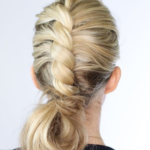 Low Bun With A Rope Twist