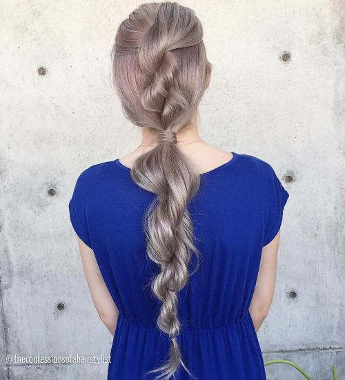 Loose Rope Braid For Long Hair