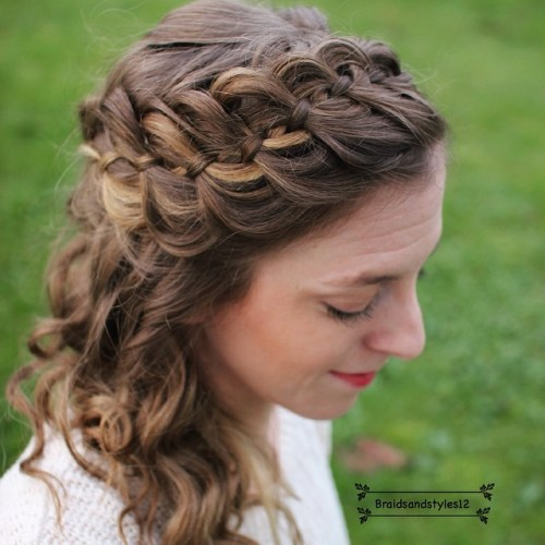 Half Updo With A Strand Braid