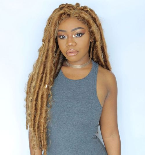 Long Thick Blonde Dreadlocks