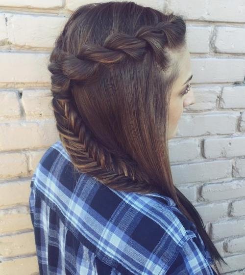 Half Up Half Down Hairstyles For Straight Hair: 20 Inspiring Ideas For Rope Braid Styles