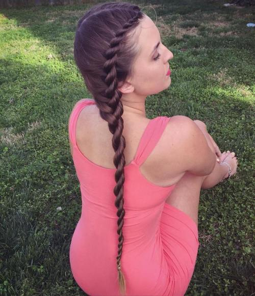 Extra Long Side 2-Strand Rope Braid