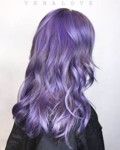 Pastel Purple Wavy Hair