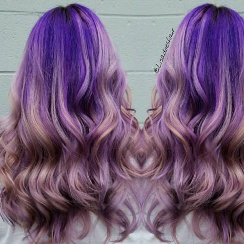 Pastel Purple Ombre Hair