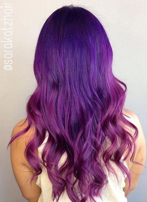 Purple And Violet Ombre Hair
