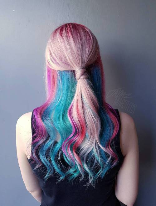 Pastel Pink And Blue Hair