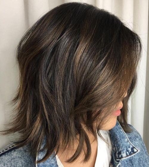 Razored Shag For Medium Hair
