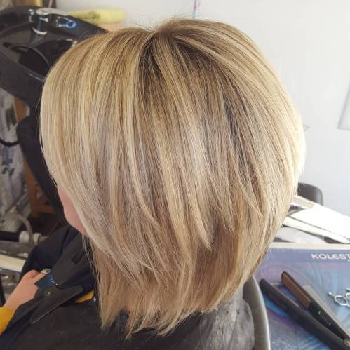 Two-Tier Bob With Side Bangs