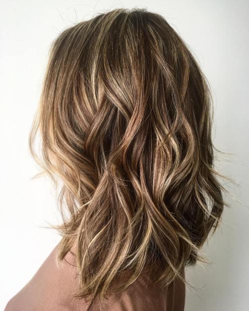 Medium Layered Bronde Hairstyle