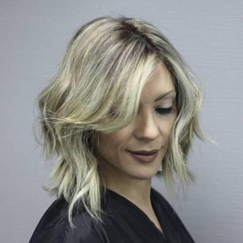 Medium Razored Haircut For Wavy Hair