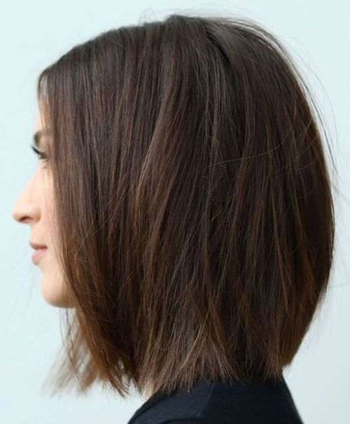 One-Length Bob With Razored Ends