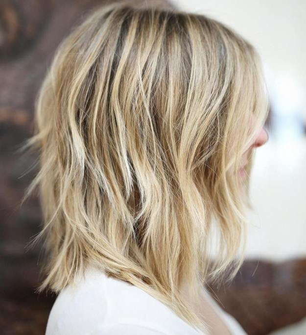 Mid-Length Blonde Shag