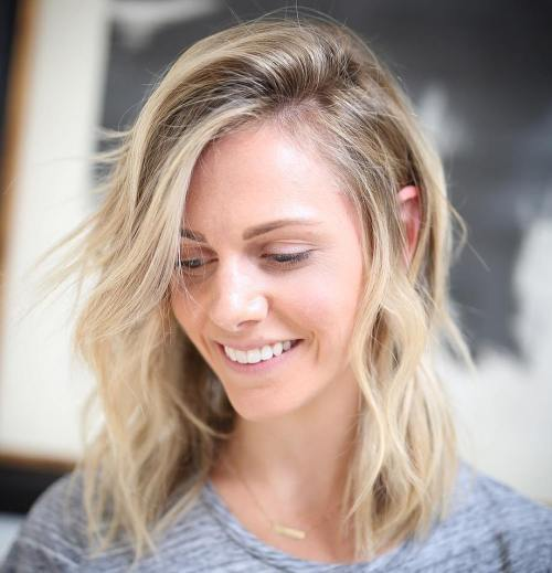 Mid-Length Blonde Layered Cut For Fine Hair