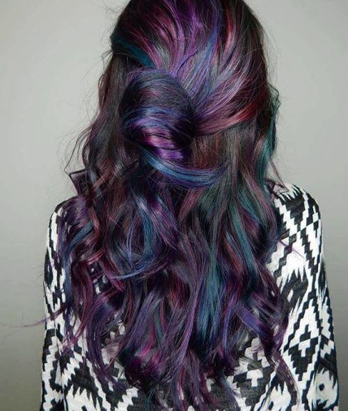 blue and purple hair ideas