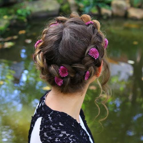 Braid Crown With Flowers